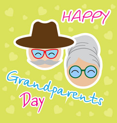 abstract grandparents day background vector image