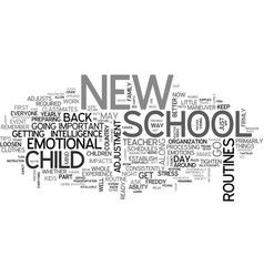 Are you in a school daze text word cloud concept vector