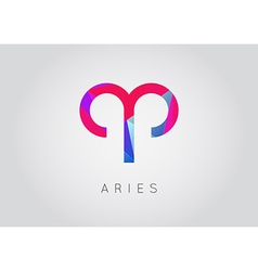 Aries constellation detailed stylish zodiac icon vector