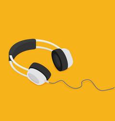 Audio headphone isometric flat vector