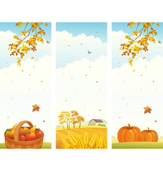 Autumn vertical banners vector