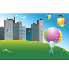 ballooning vector image vector image
