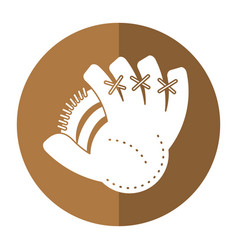 baseball glove sport shadow vector image