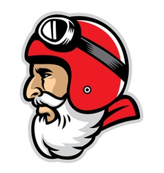 bearded rider mascot head vector image