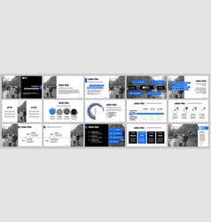 Blue elements for infographics and presentation vector