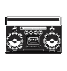 boombox isolated on white background design vector image