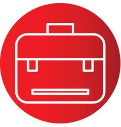Breifcase icon in creative design with elements vector