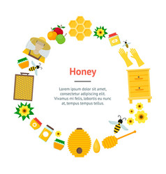 Cartoon honey banner card vector