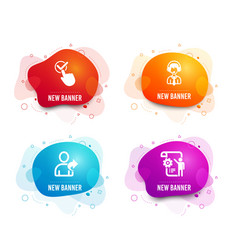 Checkbox shipping support and refer friend icons vector
