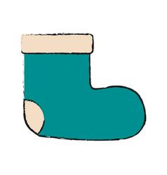 christmas boot symbol vector image