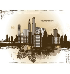 City with grunge vector