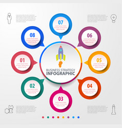 color business infographics chart for presentation vector image