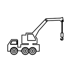 Crane truck pictogram icon image vector