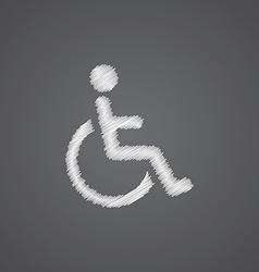 Cripple sketch logo doodle icon vector