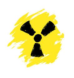danger grunge signs radiation sign biohazard sign vector image