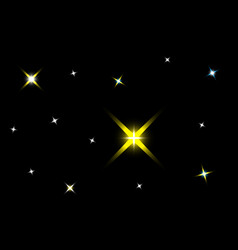dark background with starsstarry sky vector image