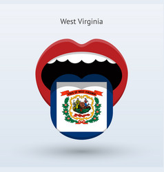 Electoral vote of west virginia abstract mouth vector