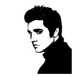 Elvis presley portrait vector