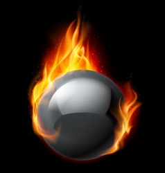 Fire sphere vector image