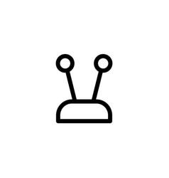 flat line antenna single icon symbol sign logo vector image