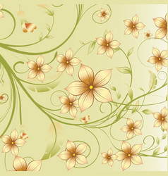 Flower decoration abstract background vector