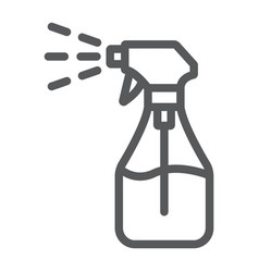 Foggy spray line icon liquid and fluid spray vector