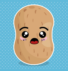 fresh potato vegetable kawaii character vector image