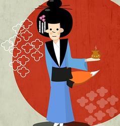 Geisha as a fairy-fox vector