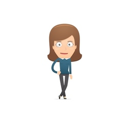 Girl manager suitable for use in dialogs with vector image vector image