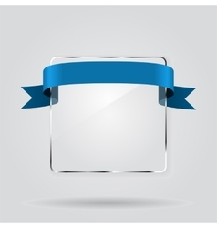 Glass framework with ribbon vector