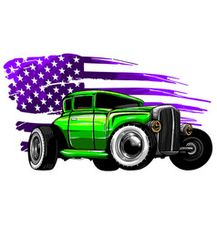 Graphic design an american muscle car vector
