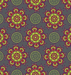 Hand drawing zentangle manala color seamless vector image
