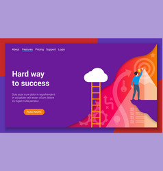 Hard way to success vector