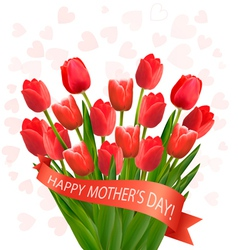 Holiday mothers day background with bouquet of vector