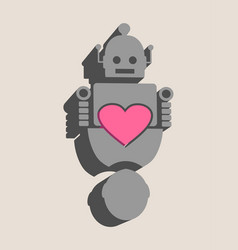 Human and robot relationships vector