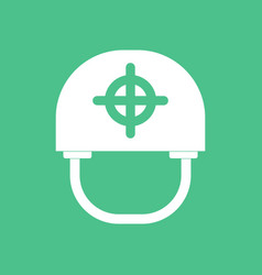 Icon military helmet with target vector