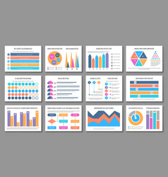 infographic layout business presentation chart vector image