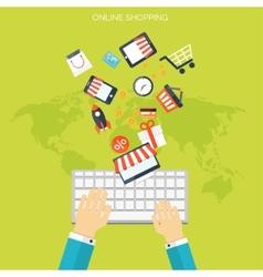 Internet shopping concept E-commerce Online vector image