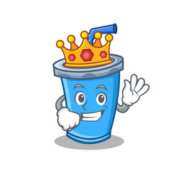 King soda drink character cartoon vector