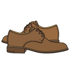 Leather low shoes vector