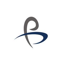 letter p b modern vector image