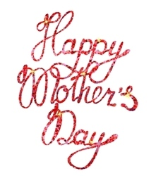 Lettering Happy Mothers Day tinsels vector image
