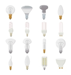 Light bulb icons set cartoon style vector image