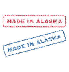 Made in alaska textile stamps vector
