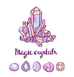 magical crystals Jeweler card vector image