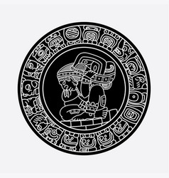 Mayan symbols tattoo vector