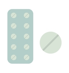 Medicine in tablet package on vector image