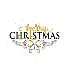 Merry Christmas greeting vector