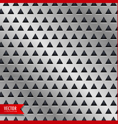 Metal triangle pattern background vector