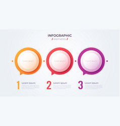 Minimalistic infographic concept with 3 options vector